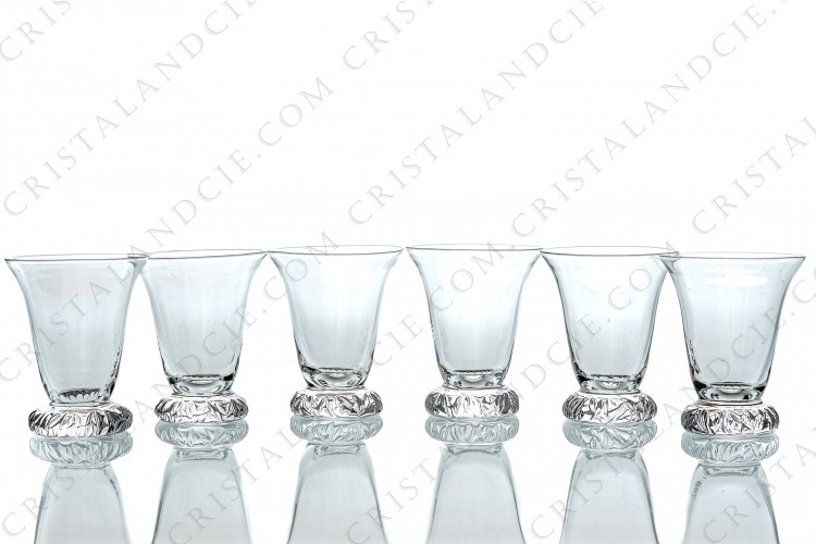 Six Cordial glasses Kim by Daum
