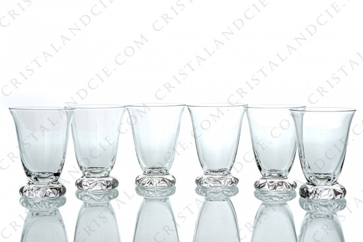 Six sherry glasses n°5 Kim by Daum