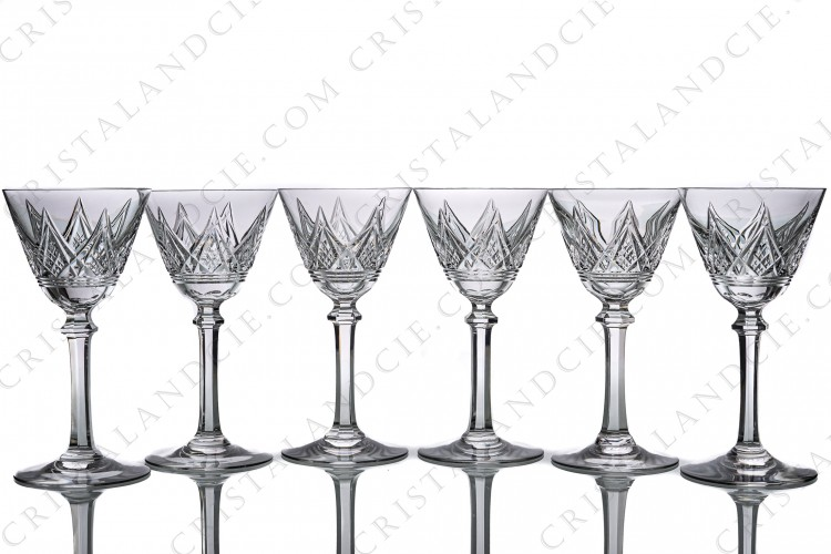 Six Sherry glasses n°5 Louvois by Baccarat