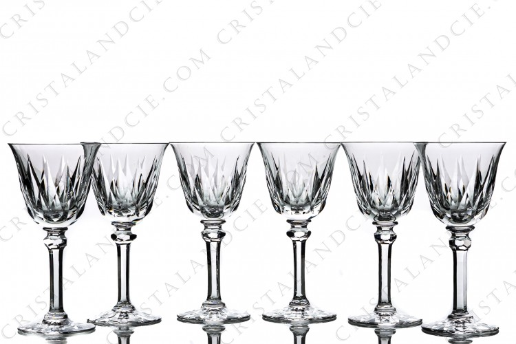 Six Sherry glasses n°5 Provence by Saint-Louis