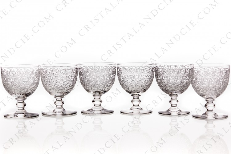 Six Sherry glasses n°5 Rohan by Baccarat