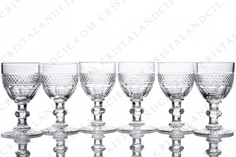 Six Sherry glasses n°5 Trianon by Saint-Louis
