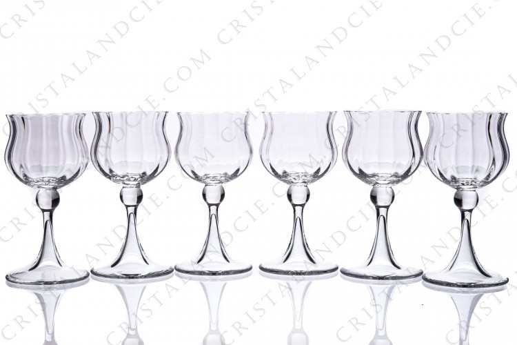 Six Sherry glasses n°5 Verone by Daum