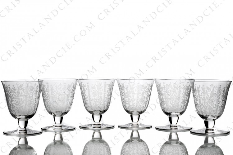 Six wine glasses n°4 Argentina by Baccarat