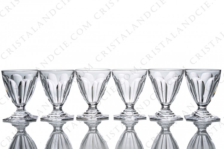 Six wine glasses n°4 Bourbon by Baccarat