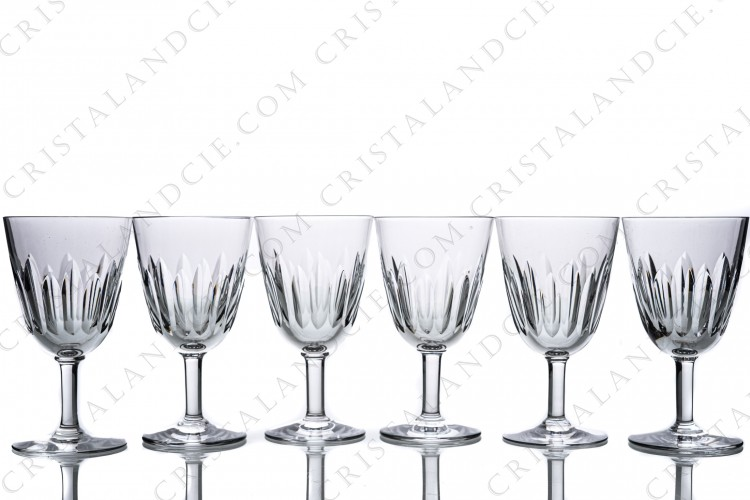 Six wine glasses n°4 Cassino by Baccarat