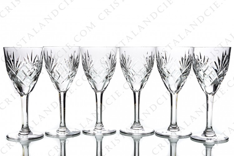 Six wine glasses n°3 Chantilly by Saint-Louis