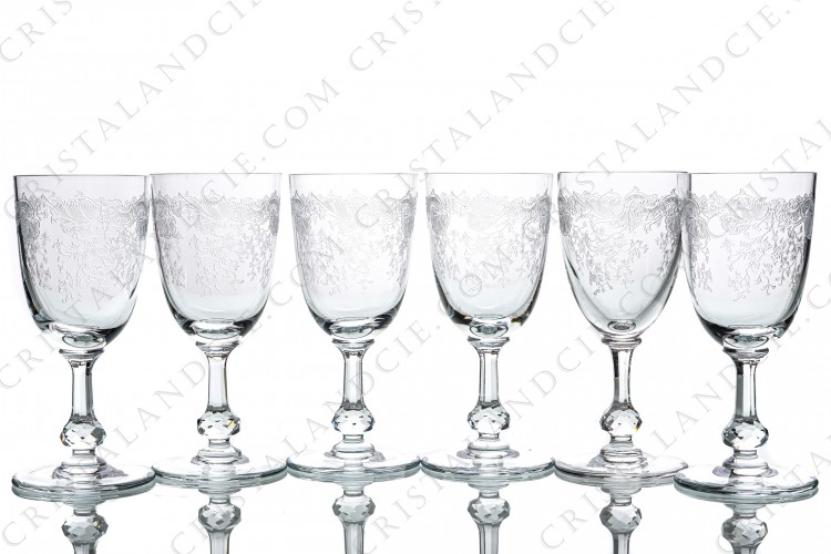 Six wine glasses n°3 Cléo by Saint-Louis
