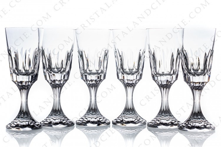 Six wine glasses n°3 D