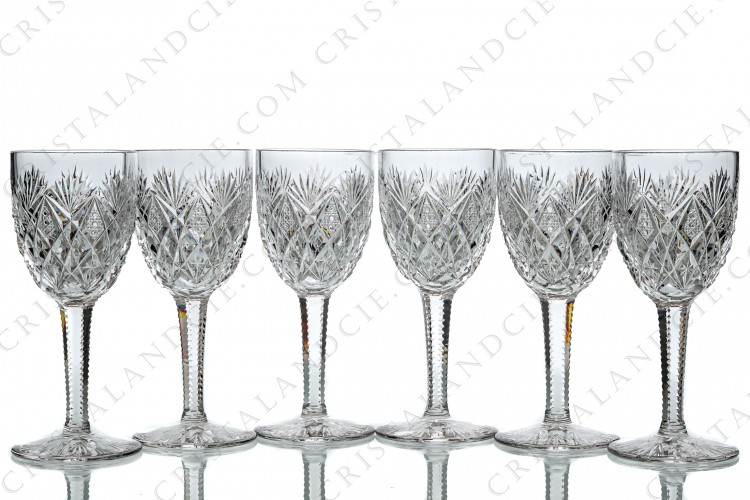 Six wine glasses n°4 Florence by Saint-Louis