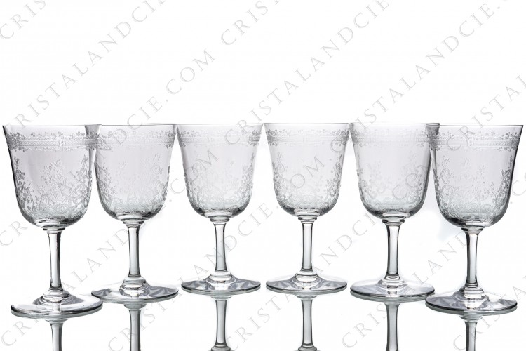 Six wine glasses n°3 Lafayette by Baccarat