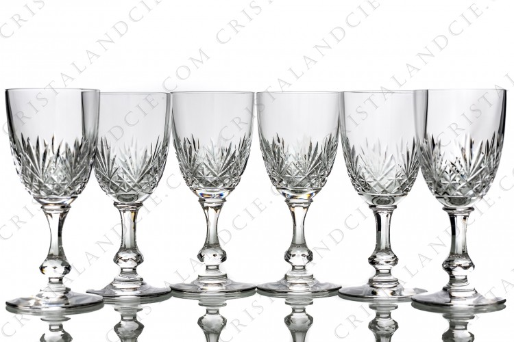 Six wine glasses n°4 Massenet by Saint-Louis