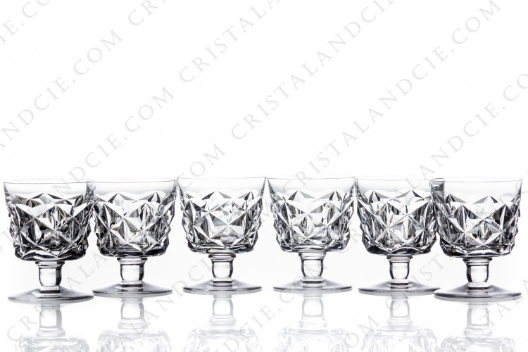 Six wine glasses n°4 Muret by Baccarat