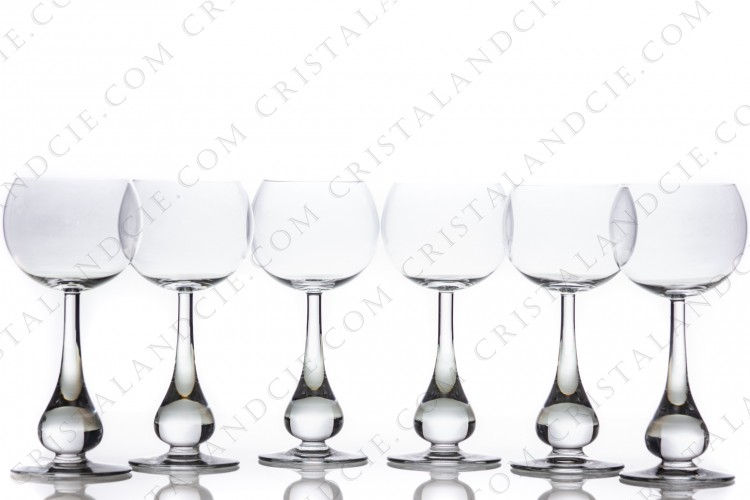 Six wine glasses n°3 Pavot by Baccarat