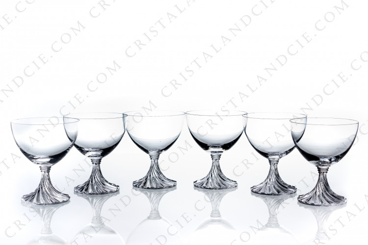 Six wine glasses n°3 Rambouillet by Lalique