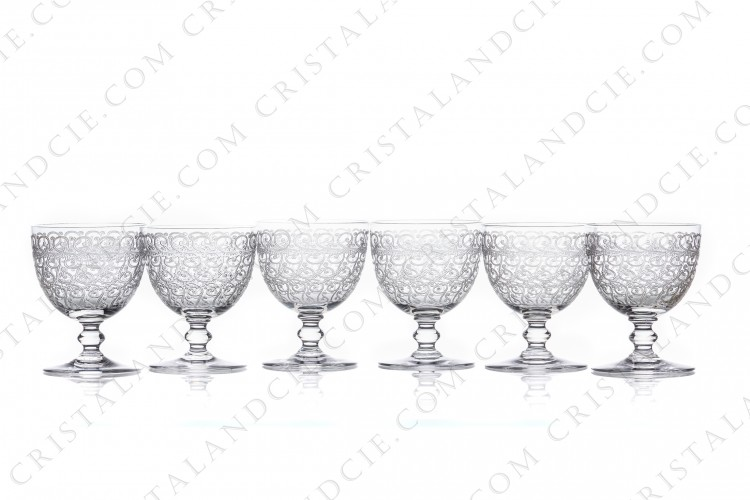 Six wine glasses n°4 Rohan by Baccarat