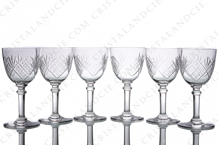 Six wine glasses n°4 by Saint-Louis