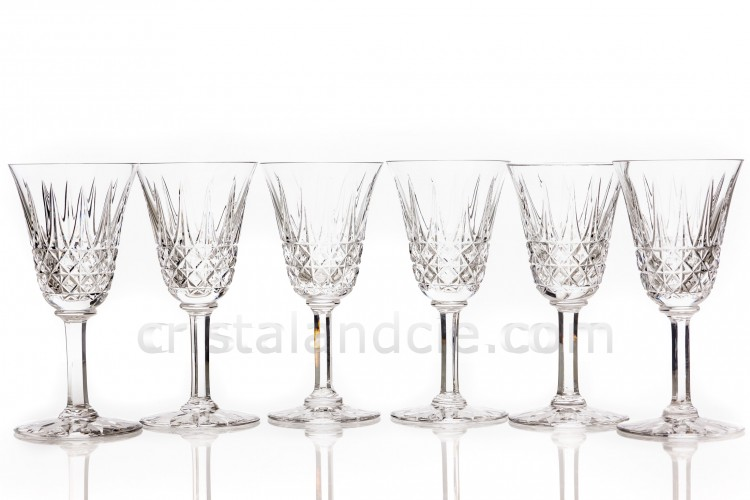 Six wine glasses n°3 Tarn by Saint-Louis