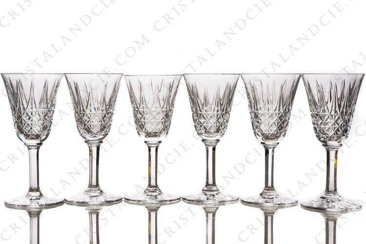 Six wine glasses n°4 Tarn by Saint-Louis