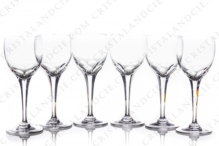 Six wine glasses n°4 Tuileries by Lalique