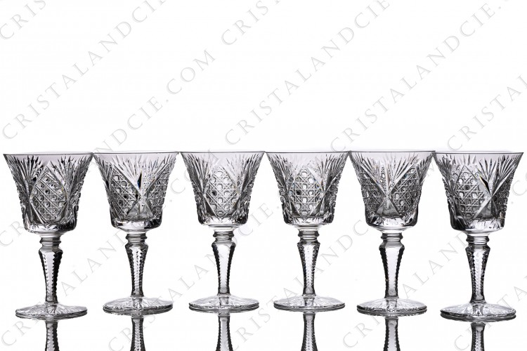Six wine glasses n°4 Vologne by Saint-Louis