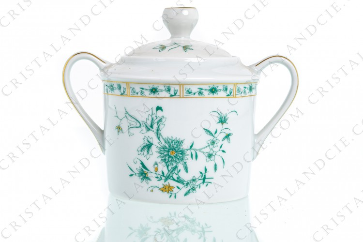 Square sugar bowl Pekin by Bernardaud