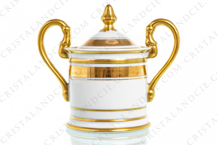 Sugar bowl gold by Pastaud Limoges
