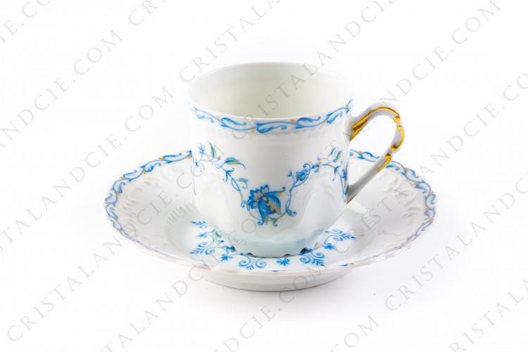 Coffee cup blue flowers by the Ancienne Manufacture Royale
