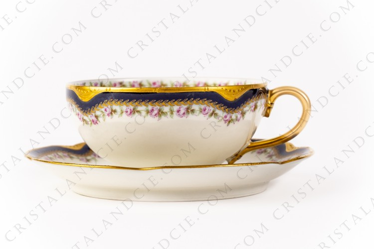 Tea cup with roses by Haviland