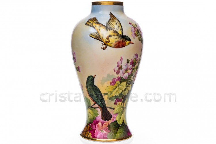 Vase with birds by Dartigeas