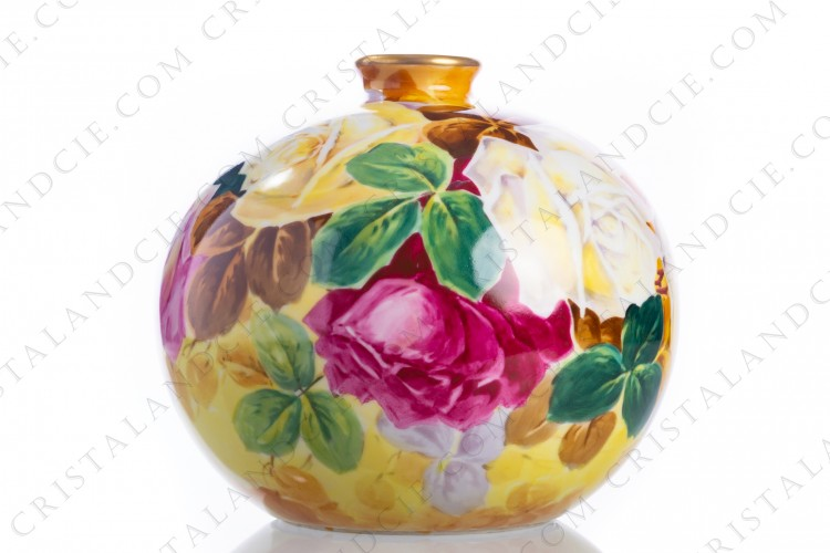 Vase With Roses By Dyvone