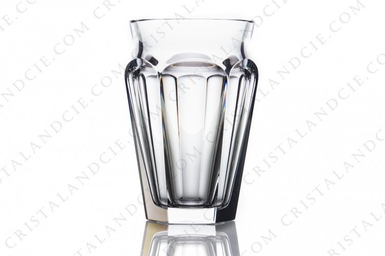Vase in crystal by Baccarat pattern Nelly decorated with flatcut