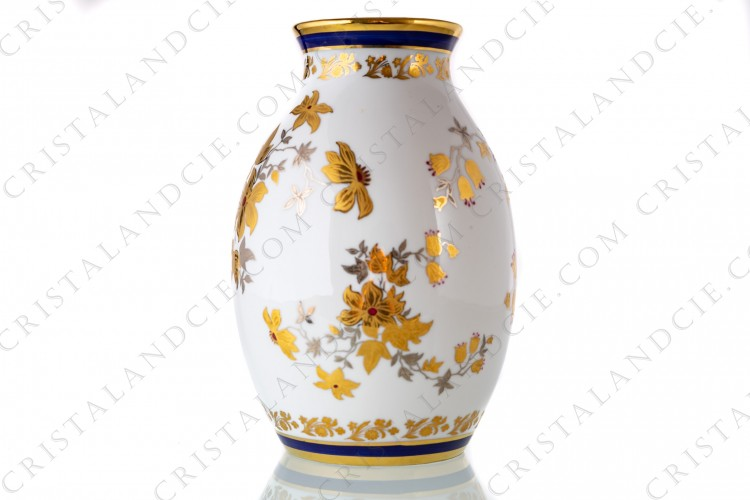 Gold and silver vase Limoges
