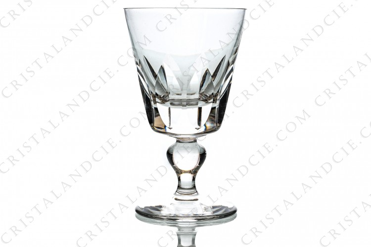 Water glass n°2 in crystal by Saint-Louis pattern Jersey with a cut pattern