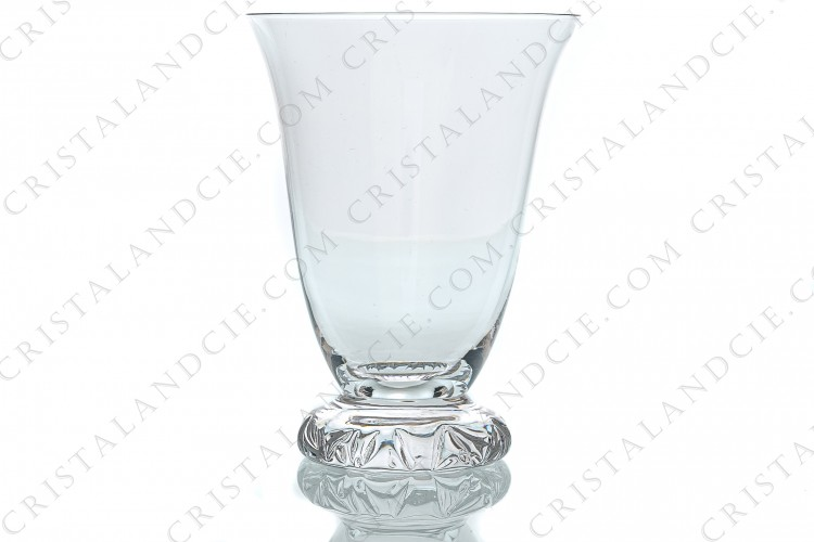 Water glass n°2 in crystal by Daum pattern Kim