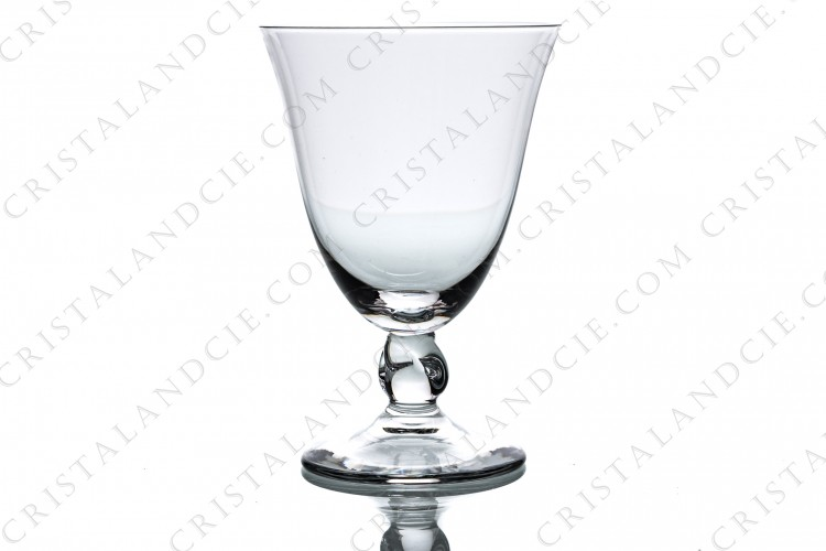Watergoblet n°2 in crystal by Daum collection Orval with a twisted stem