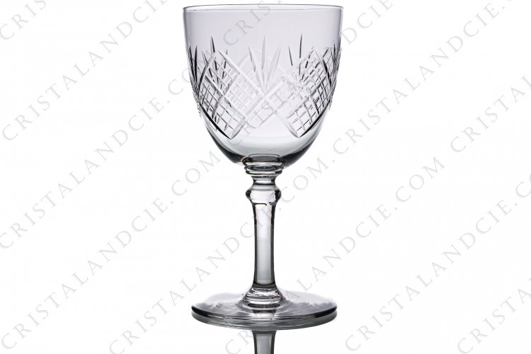 Water glass n°2 in crystal by Saint-Louis with a cut pattern