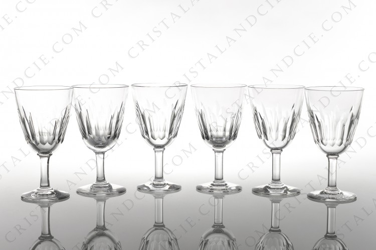 Six sherry glasses n°5 Cassino by Baccarat