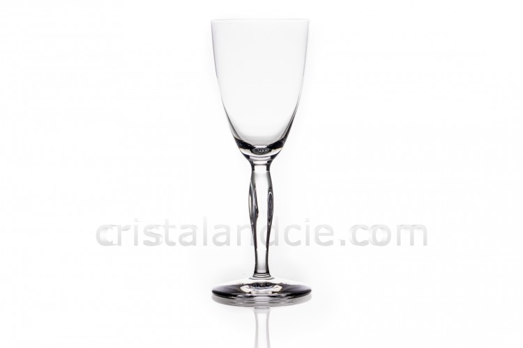 Sherry glass n°5 in crystal by Daum pattern Ovedelia with a twisted stem photo-1