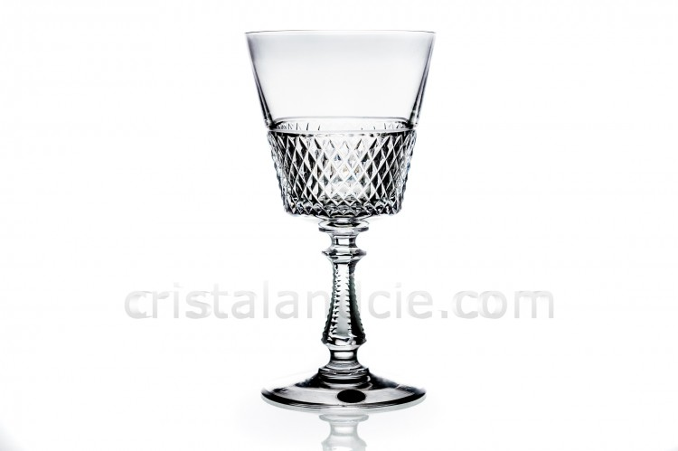 Wine glass Heidelberg diamond cut by Val Saint-Lambert