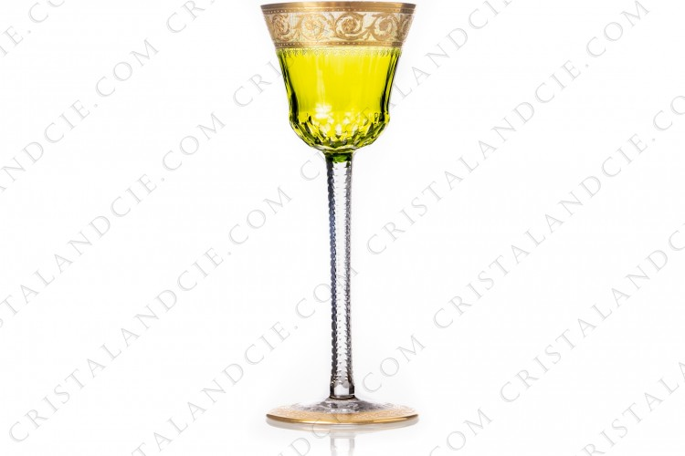 Wine glass Hock yellow Thistle by Saint-Louis