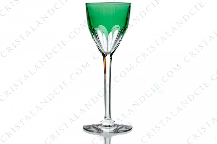 Green wine glass hock Genova by Baccarat