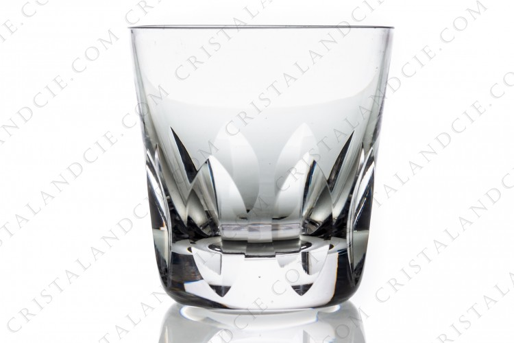 Whisky glass tumbler Old fashion regular n°3 in crystal by Saint-Louis pattern Jersey with a cut pattern