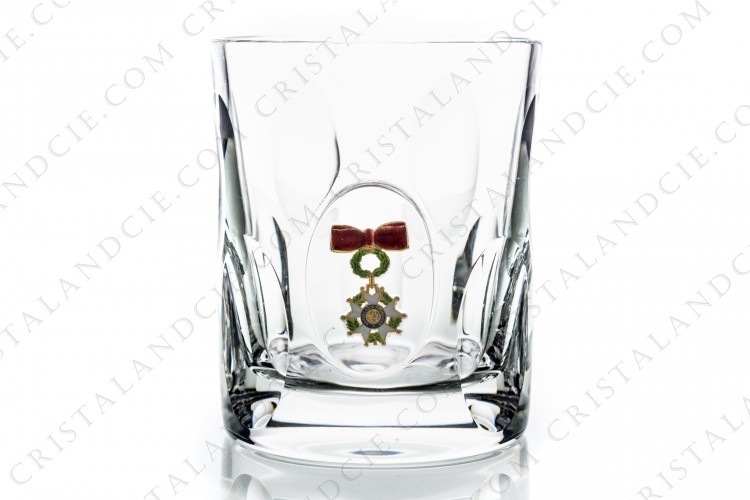 Whisky glass Legion of Honour by Saint-Louis