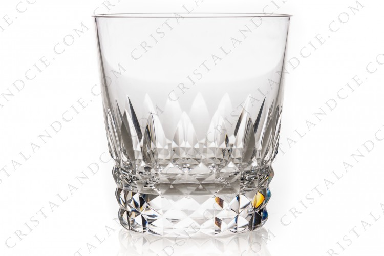 Whisky glass Old fashion regular ( tumbler n°3) in crystal by Baccarat pattern Piccadilly, with a cut pattern photo-1