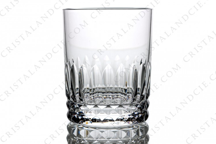 Whisky glass, tumbler n°1 in crystal by Baccarat pattern Piccadilly, with a cut pattern