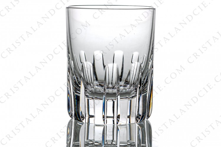 Whisky glass, tumbler n°3 in crystal by Baccarat pattern Rotary a cut pattern