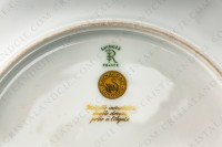 Dinner plate in Limoges china by Raynaud pattern Ambassador gold, decorated with a gold inlays frieze photo-5