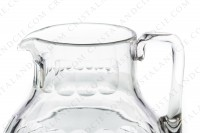 Water jug in crystal by Baccarat pattern Charmes with a cut pattern on the parison photo-2