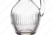 Water jug in crystal by Baccarat pattern Renaissance with a cut pattern on the parison photo-4
